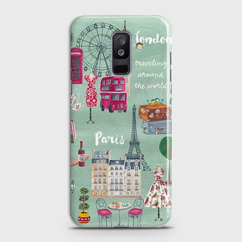 Samsung A6 Plus 2018 - London, Paris, New York Modern Printed Hard Case With Life Time Colors Guarantee
