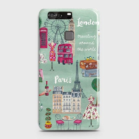 London, Paris, New York Modern Case For Huawei P9