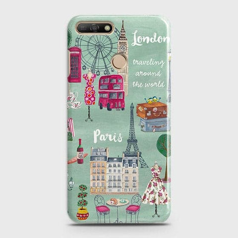 London, Paris, New York Modern Case For Huawei Y7 2018