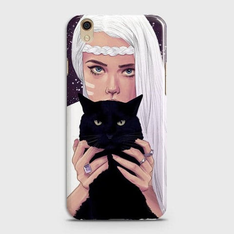 Oppo F1 Plus / R9 - Trendy Wild Black Cat Printed Hard Case With Life Time Colors Guarantee