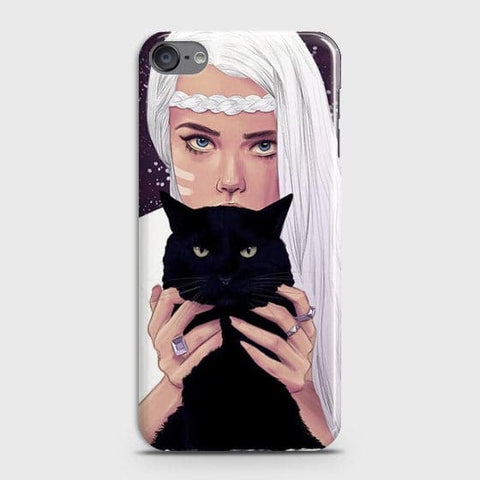 Trendy Wild Black Cat Case For iPod Touch 6