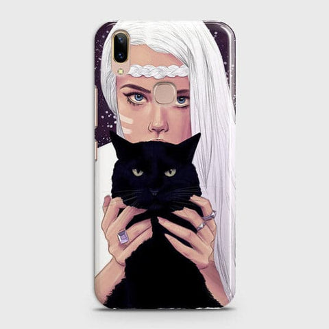Trendy Wild Black Cat Case For Vivo V9 / V9 Youth