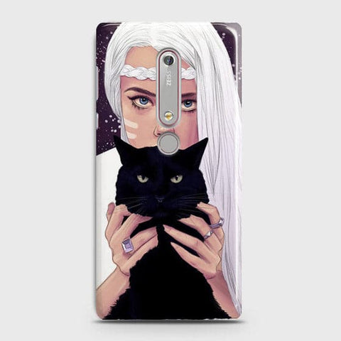 Nokia 6.1 - Trendy Wild Black Cat Printed Hard Case With Life Time Colors Guarantee