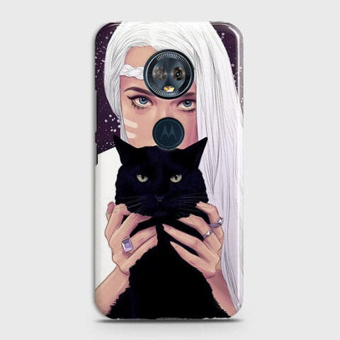 Trendy Wild Black Cat Case For Motorola E5 Plus