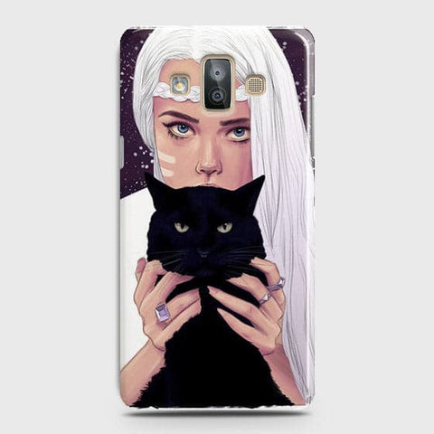 Trendy Wild Black Cat Case For Samsung Galaxy J7 Duo