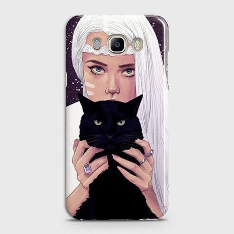 Trendy Wild Black Cat Case For Samsung Galaxy J510