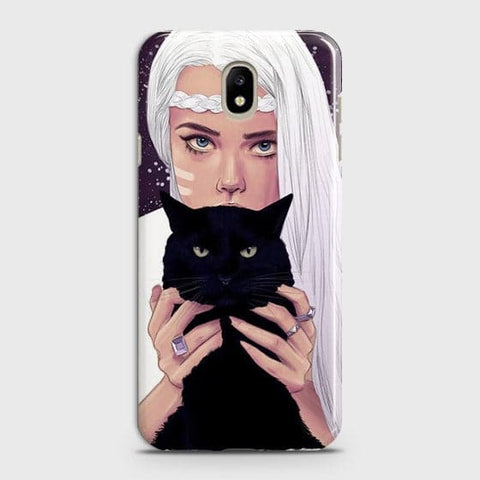 Trendy Wild Black Cat Case For Samsung Galaxy J5 2017