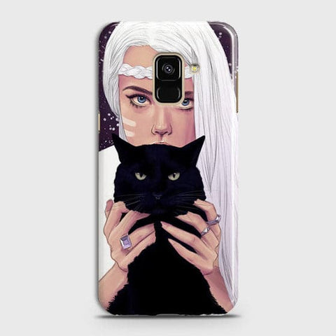 Trendy Wild Black Cat Case For Samsung A8 Plus 2018