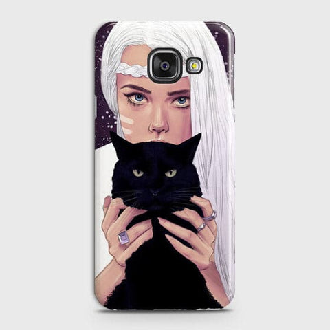 Samsung Galaxy J7 Max - Trendy Wild Black Cat Printed Hard Case With Life Time Colors Guarantee
