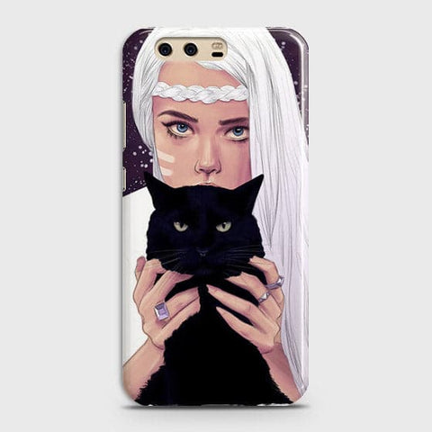 Trendy Wild Black Cat Case For Huawei P10