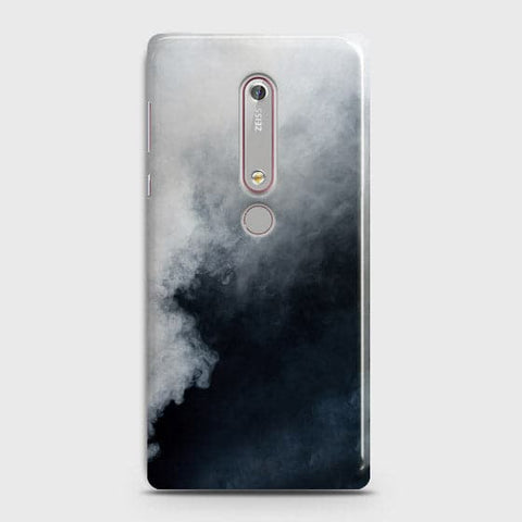 Nokia 6.1 - Trendy White Floor Marble Printed Hard Case With Life Time Colors Guarantee