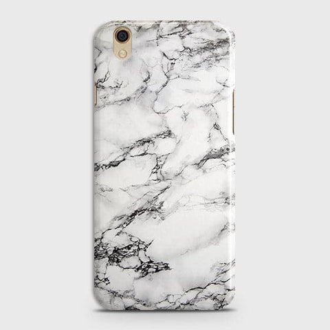 Oppo F1 Plus / R9 - Trendy White Floor Marble Printed Hard Case With Life Time Colors Guarantee