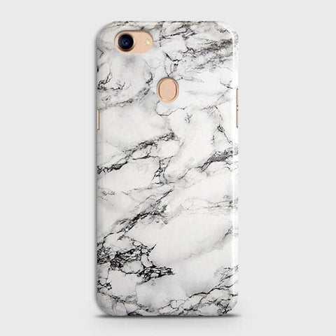 Trendy White Floor Marble Case For Oppo F5 / F5 Youth