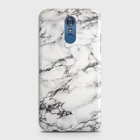 Trendy White Floor Marble Case For LG Q7