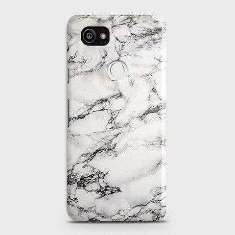 Google Pixel 2 XL - Trendy White Floor Marble Printed Hard Case With Life Time Colors Guarantee