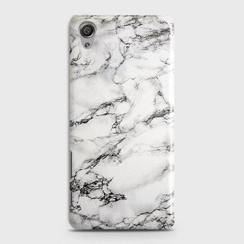Trendy White Floor Marble Case For Sony Xperia XA