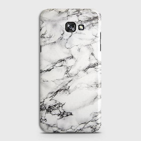 Samsung A3 2017 - Trendy White Floor Marble Printed Hard Case With Life Time Colors Guarantee