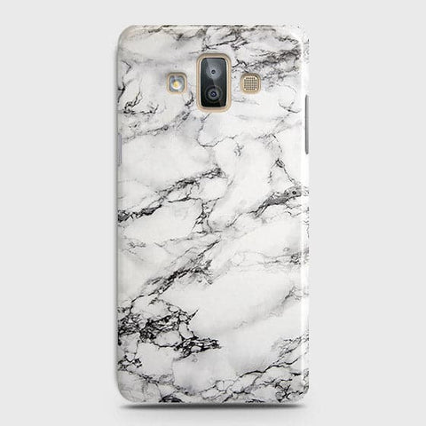 Trendy White Floor Marble Case For Samsung Galaxy J7 Duo