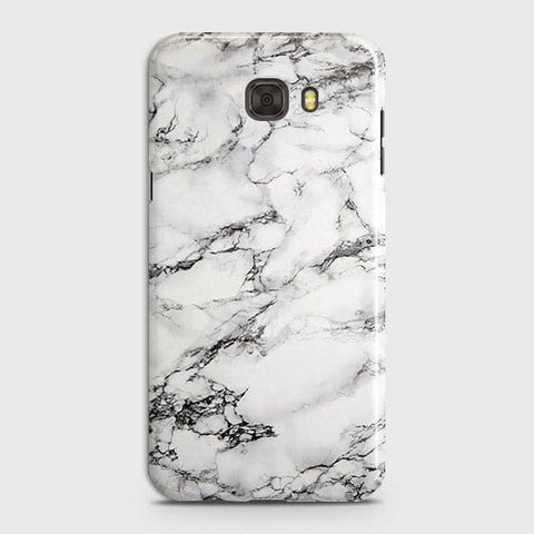 Samsung C9 Pro - Trendy White Floor Marble Printed Hard Case With Life Time Colors Guarantee