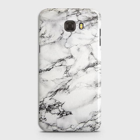Samsung C7 Pro - Trendy White Floor Marble Printed Hard Case With Life Time Colors Guarantee
