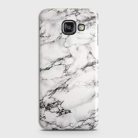 Samsung Galaxy J7 Max - Trendy White Floor Marble Printed Hard Case With Life Time Colors Guarantee
