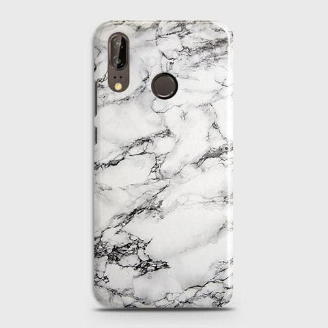 Trendy White Floor Marble Case For Huawei P20
