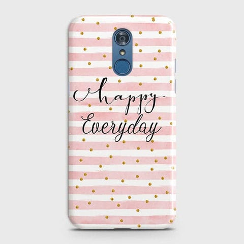 LG Q7 - Trendy Happy Everyday Printed Hard Case With Life Time Colors Guarantee