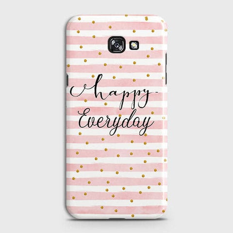 Samsung A7 2017 - Trendy Happy Everyday Printed Hard Case With Life Time Colors Guarantee