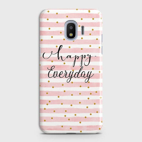 Samsung Galaxy J4 - Trendy Happy Everyday Printed Hard Case With Life Time Colors Guarantee