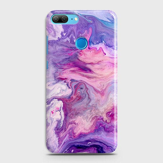 3D Chic Blue Liquid Marble Case For Huawei Honor 9 Lite