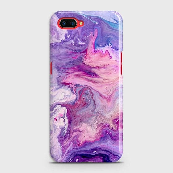 3D Chic Blue Liquid Marble Case For Oppo A3S