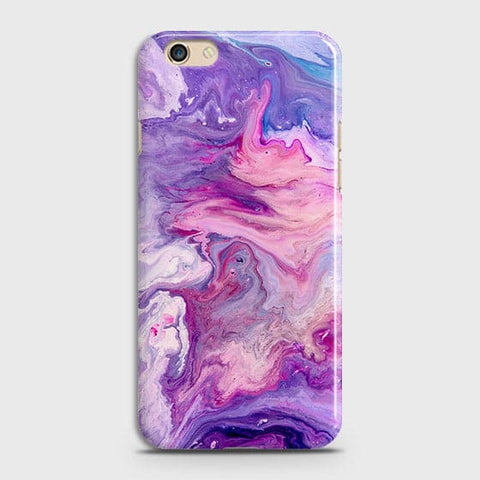 3D Chic Blue Liquid Marble Case For Oppo F1S