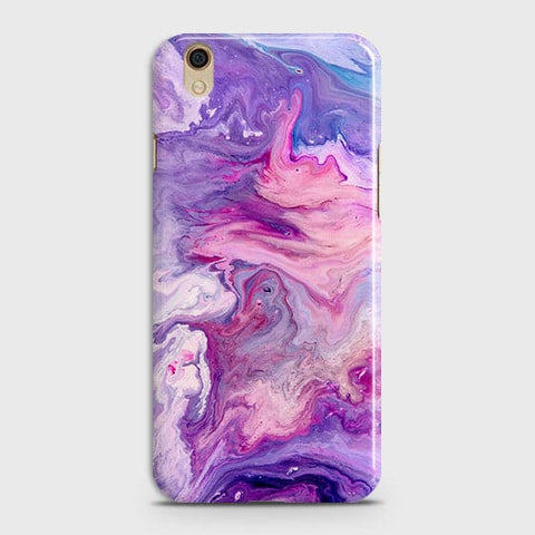 Oppo F1 Plus / R9 Cover - Chic Blue Liquid Marble Printed Hard Case with Life Time Colour Guarantee