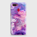 3D Chic Blue Liquid Marble Case For Oppo F9 Pro