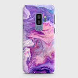 3D Chic Blue Liquid Marble Case For Samsung Galaxy S9 Plus