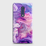 3D Chic Blue Liquid Marble Case For Nokia 5