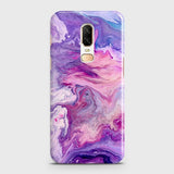 3D Chic Blue Liquid Marble Case For OnePlus 6