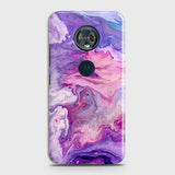 3D Chic Blue Liquid Marble Case For Motorola E5 Plus