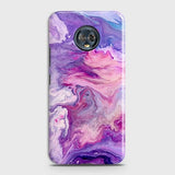 3D Chic Blue Liquid Marble Case For Motorola Moto G6