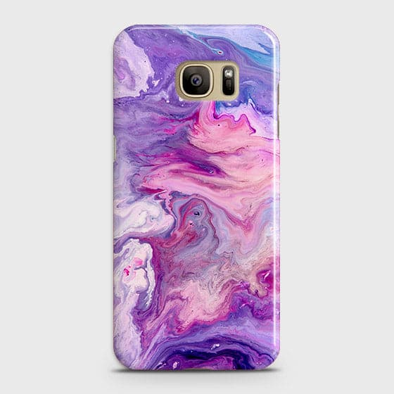3D Chic Blue Liquid Marble Case For Samsung Galaxy S7