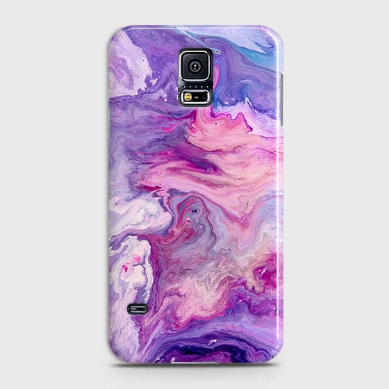 3D Chic Blue Liquid Marble Case For Samsung Galaxy S5