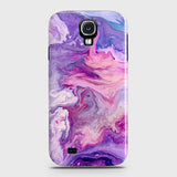 3D Chic Blue Liquid Marble Case For Samsung Galaxy S4