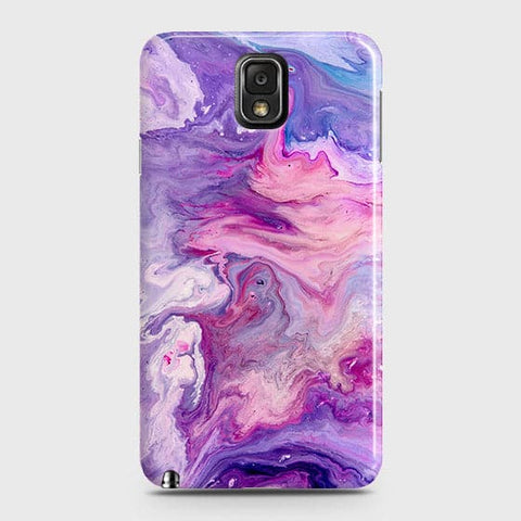 Samsung Galaxy Note 3 Cover - Chic Blue Liquid Marble Printed Hard Case with Life Time Colour Guarantee