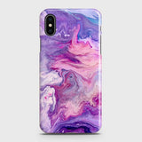 3D Chic Blue Liquid Marble Case For iPhone XS Max