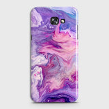 3D Chic Blue Liquid Marble Case For Samsung A7 2017