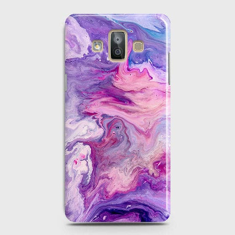 3D Chic Blue Liquid Marble Case For Samsung Galaxy J7 Duo