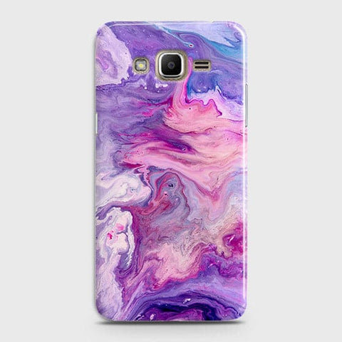 3D Chic Blue Liquid Marble Case For Samsung Galaxy J320 / J3 2016