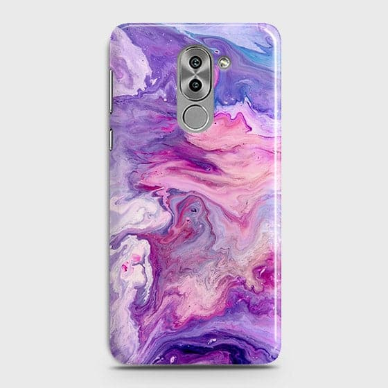 3D Chic Blue Liquid Marble Case For Huawei Honor 6X
