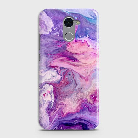 3D Chic Blue Liquid Marble Case For Huawei Y7 Prime