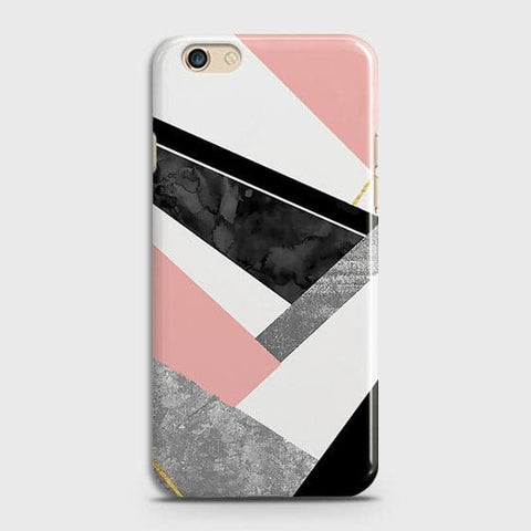 Geometric Luxe Marble Trendy Case For Oppo F1S